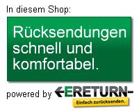 ERETURN Rücksendeservice - In diesem Shop: Rücksendungen schnell und komfortabel.